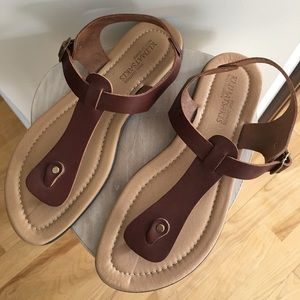 Real leather sandals made in Greece